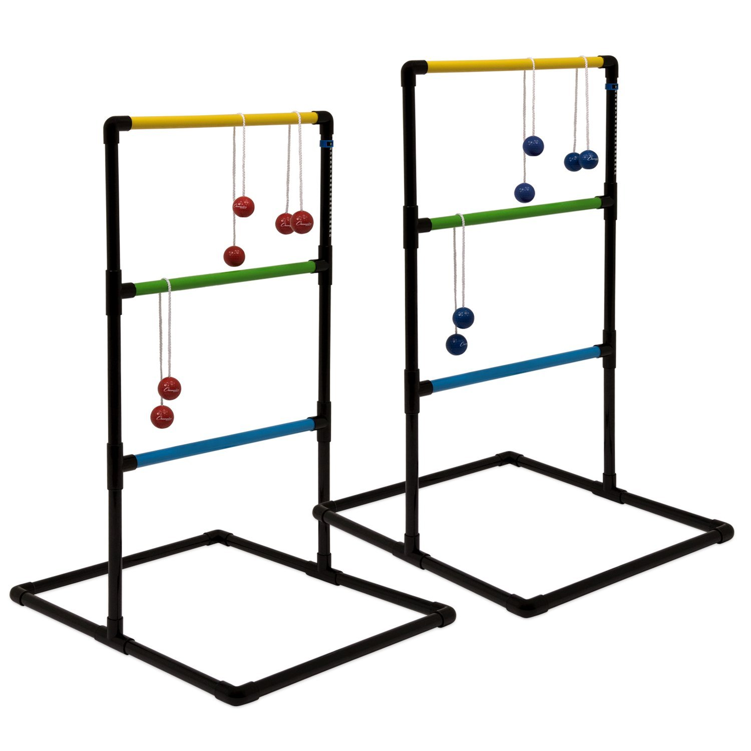 Champion Sports Outdoor Ladder Ball Game: Backyard Party, Camping & Beach Games Ladder Golf Set for Adults and Kids with Bolas Balls and Carrying Case by Champion Sports