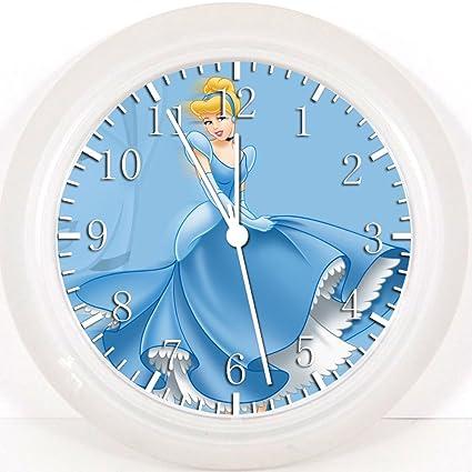 Diseño Forma Pared Con Cenicienta De Reloj Nuevo Princesas F1TJlKc