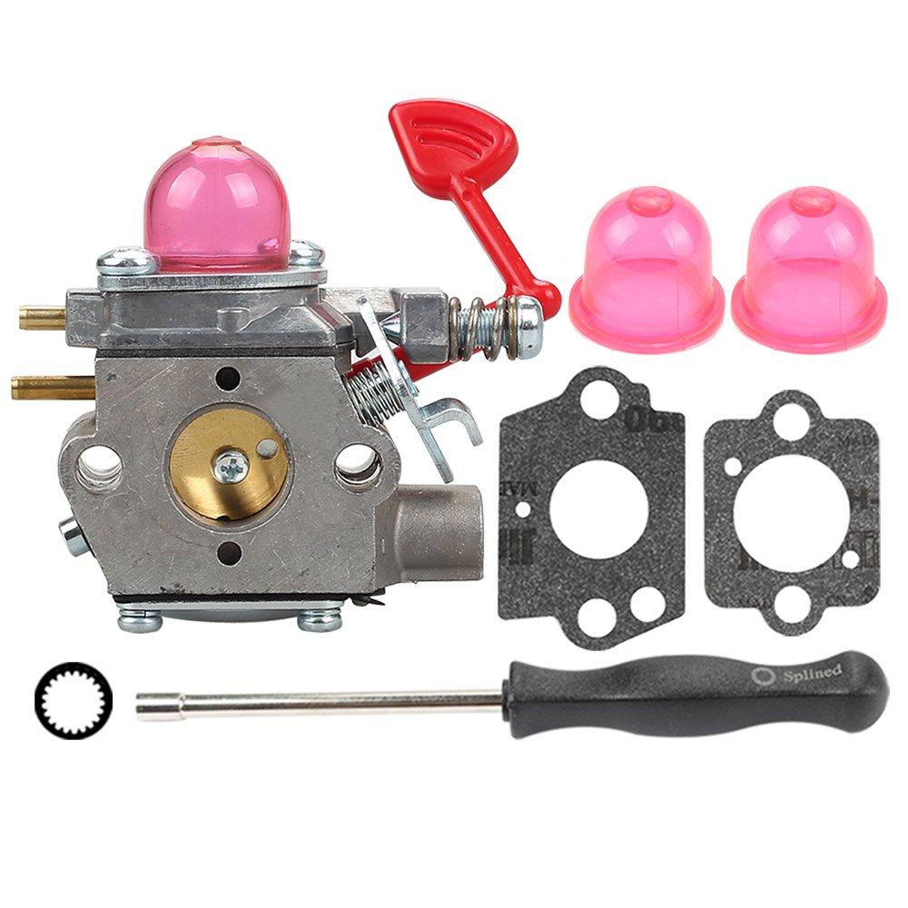 Butom 545081855 Carburetor with Gasket Adjustment Tool Primer Bulb for Craftsman 358794650 358794600 25Cc 210mph 200mph 450cfm 430cfm Gas Blower WT-875