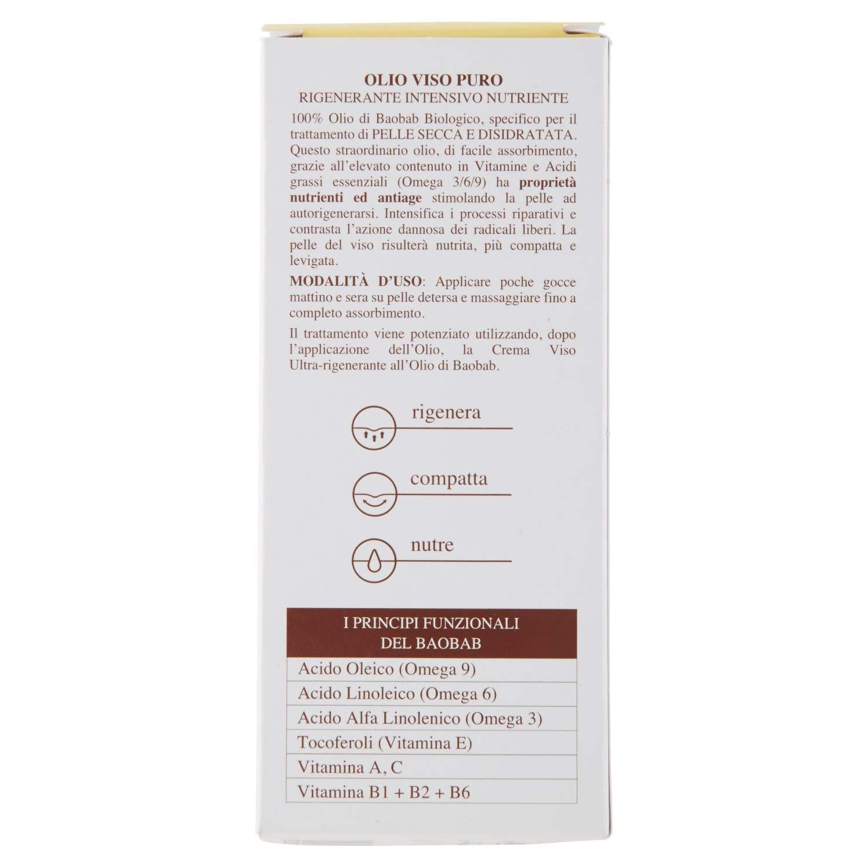 ERBORISTICA Olio viso oro di baobab 30 ml. - cura del viso: Amazon.es: Belleza