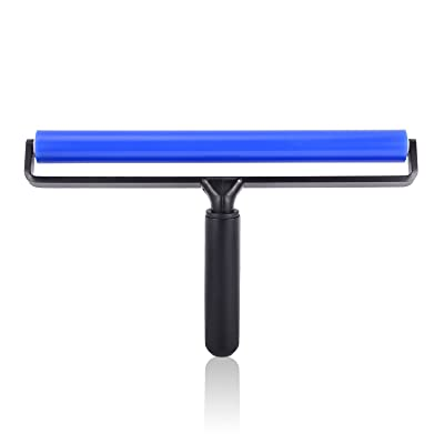 Ehdis 12-inch Wide Glue Silicone Soft Rubber Pasting Roller Squeegee Rolling Wheel Anti-static Sticky Deadener Automotive Vinyl Installation Dust Collection for Film Application Craft Projects: Automotive