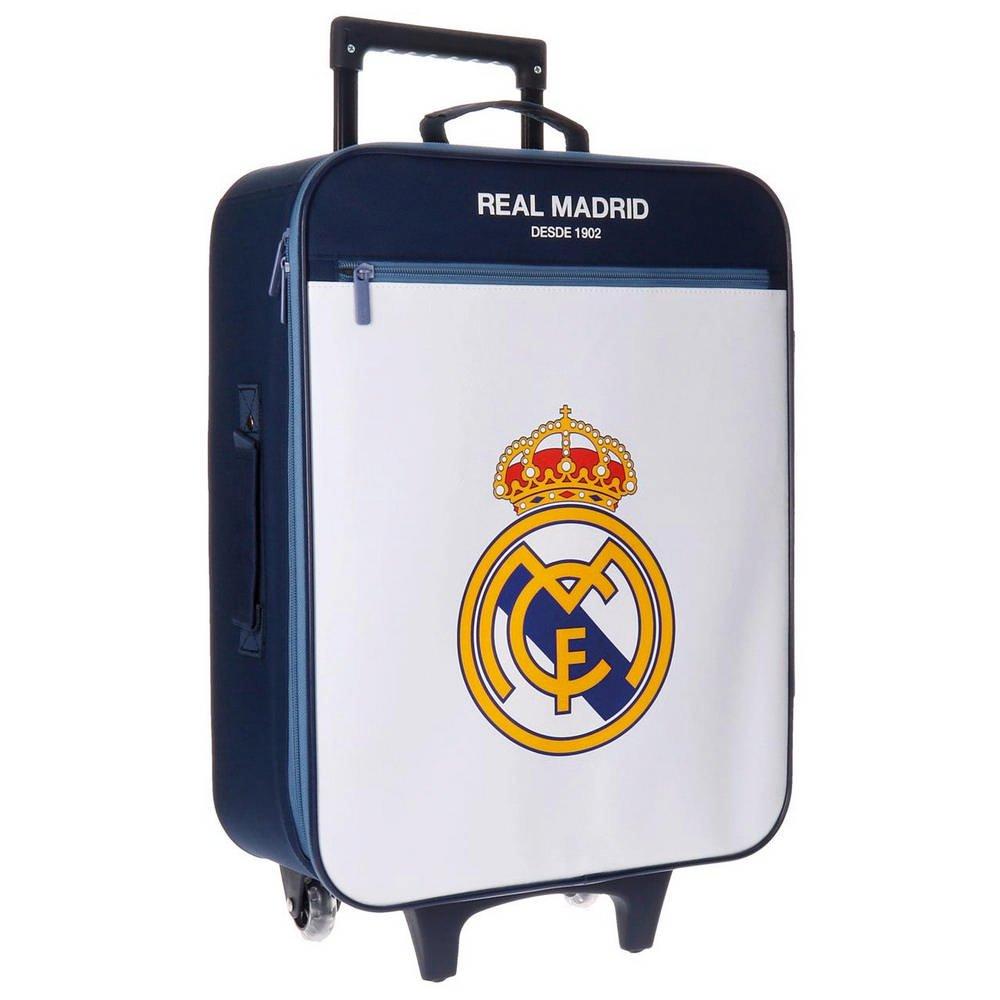 Real Madrid Magnum Kindergepäck, 52 cm, 26 liters, Weiß (Blanco)