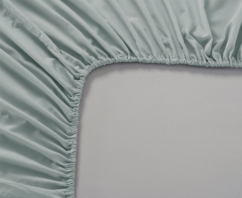 Mellanni Fitted Sheet Full Spa-Mint Brushed Microfiber 1800 Bedding - Wrinkle, Fade, Stain Resistant - Hypoallergenic - (Full, Spa Mint) by Mellanni (Image #4)