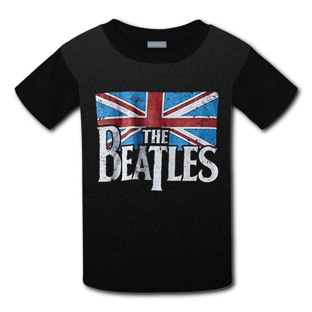 XiuHongShangMAo Unisex Kids The Beatles Round Collar Short Sleeve T- Shirt