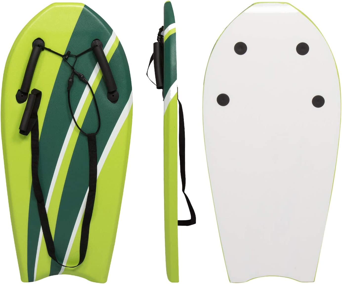 """Peachtree Press Inc. Bodyboard with Grips 37"""" Hand Hold Body Board Lightweight Surfboard Slick Bottom for Beginners Kids and Adults Sea Beach River"""