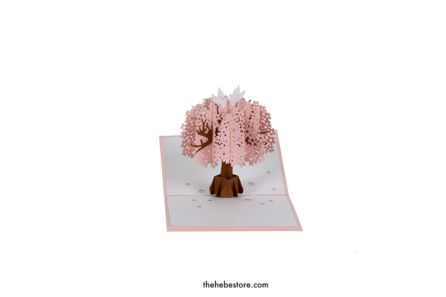 All Occasion Flowers Anniversary Handmade Cherry Blossom Pop Up Cards Mothers Day Cards By The Hebe Store Mommy Card for Wife Mother Birthday Spring Card