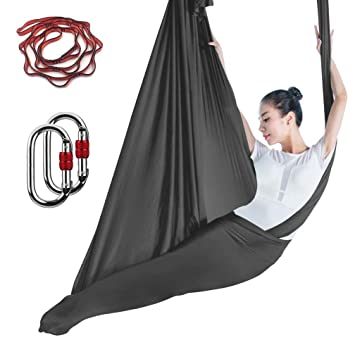 Amazon.com: KIKIGOAL - Hamaca de yoga de seda de alta ...