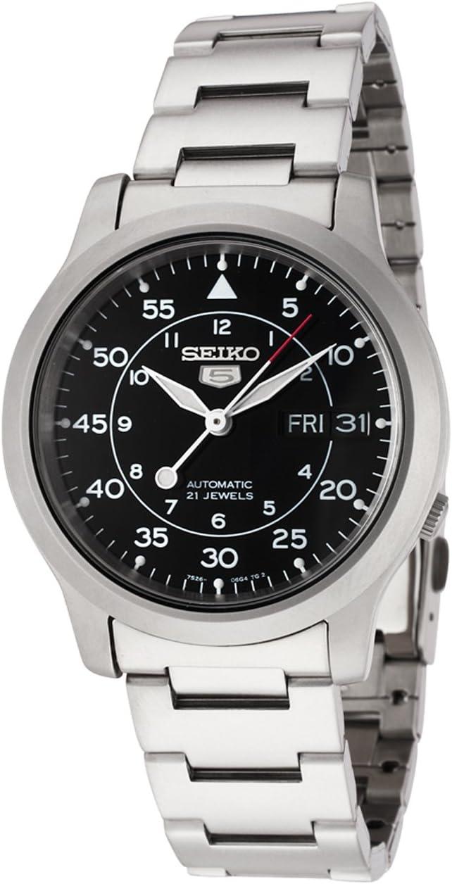 Seiko SNK809 K automático reloj de acero inoxidable: Seiko: Amazon.com.mx: Relojes