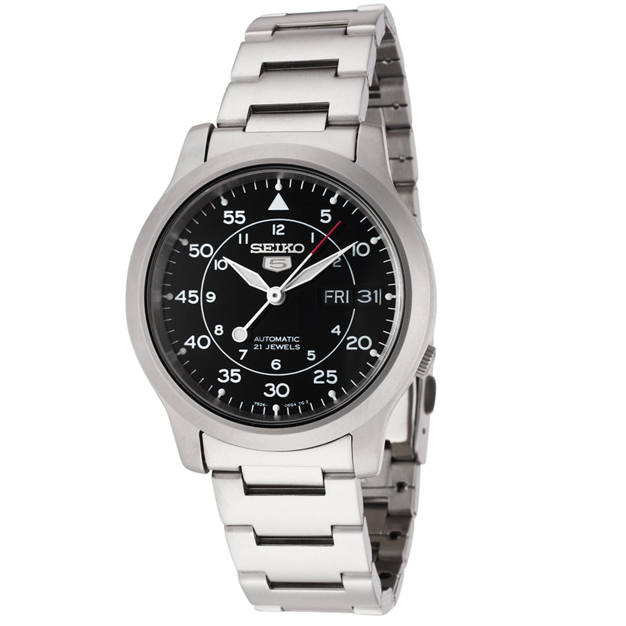 Seiko Men S Analogue Automatic Watch With Stainless Steel Strap