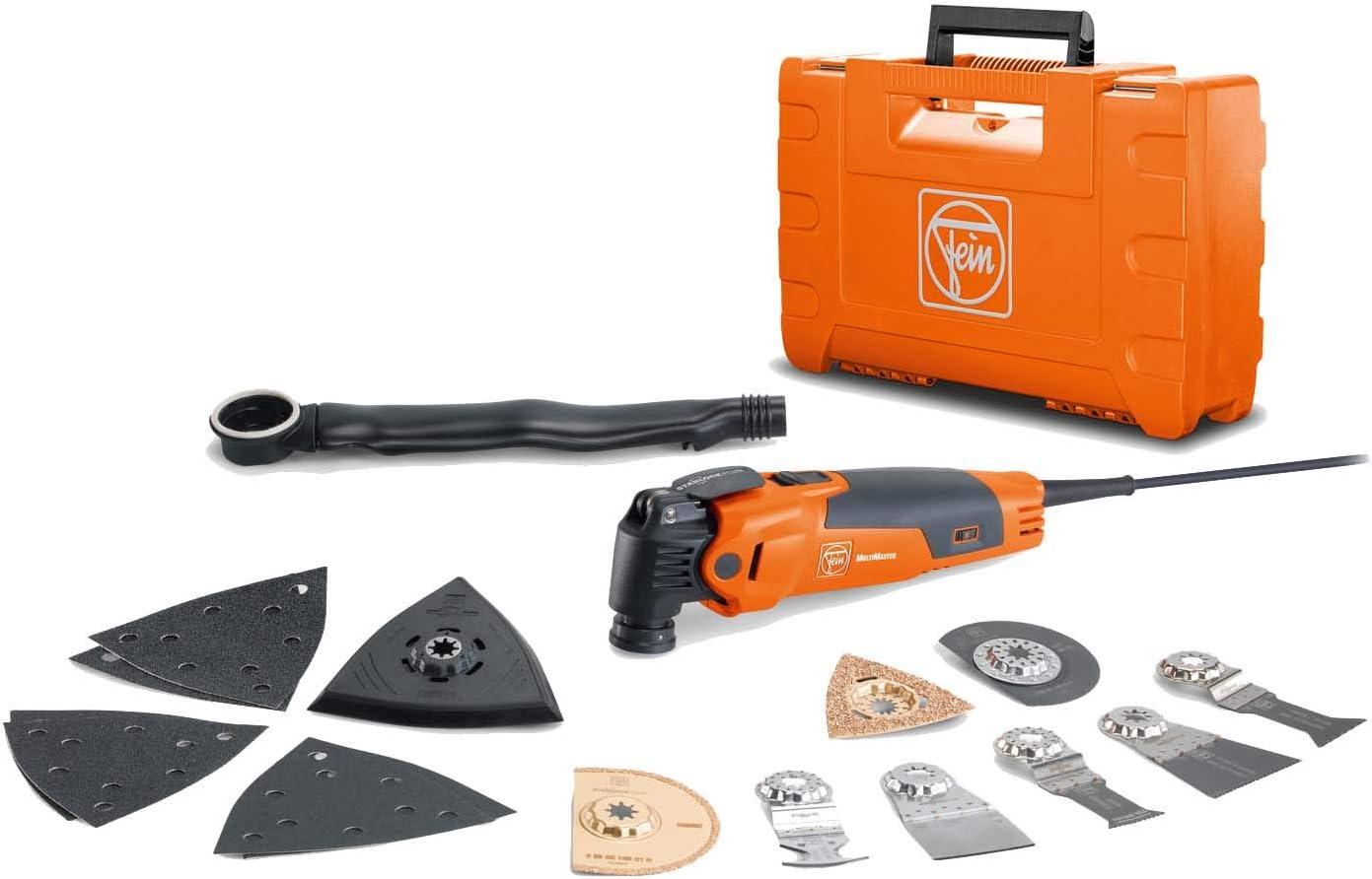 StarLock Plus Werkzeugaufnahme; spezielle Softgrip Zone; Vibrationsentkopplung Multitool Set; FMM 350 QSL XL mit QuickIn-Schnellspannsystem Fein 72295282000 MultiMaster XL Edition; Oszillierer