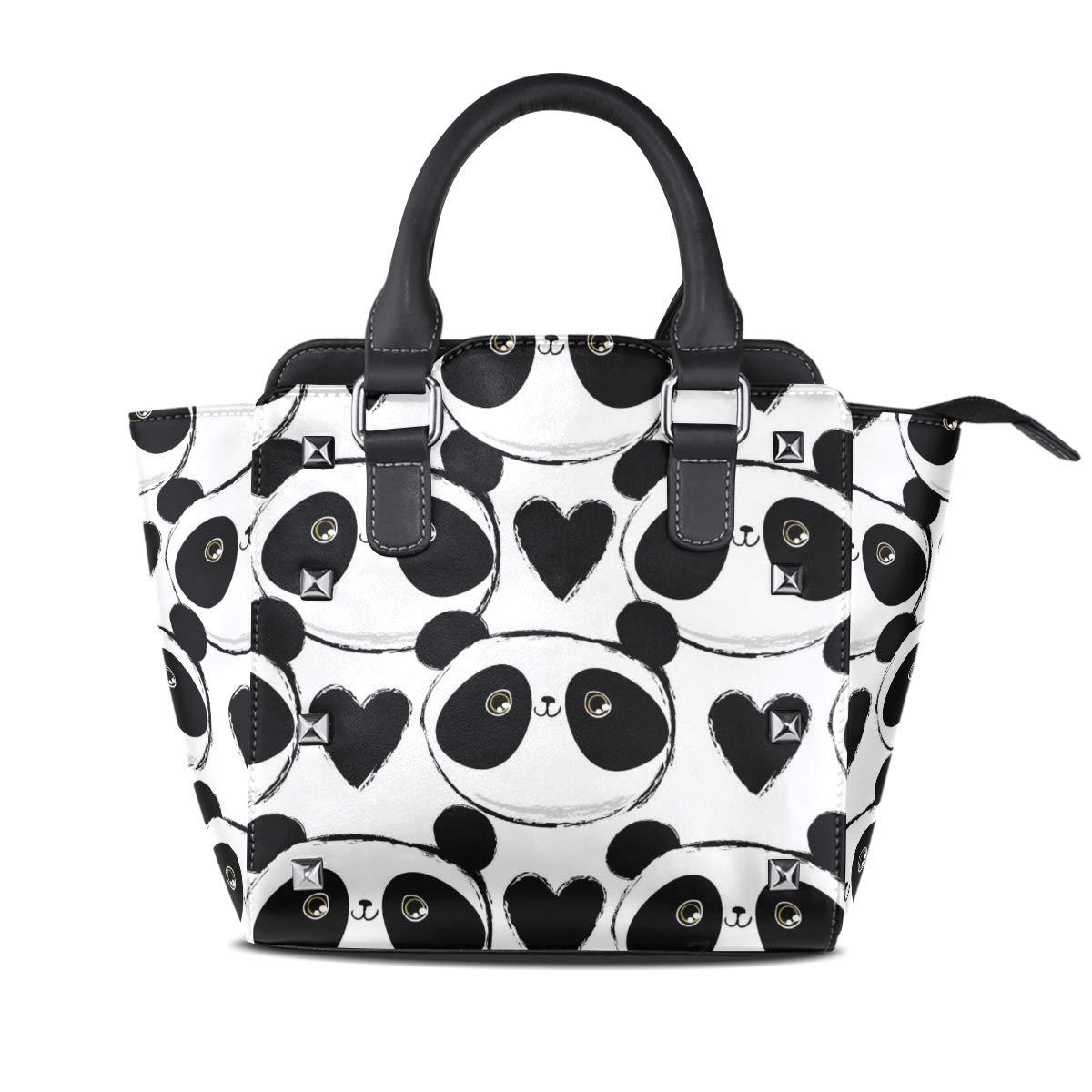 Design5 Handbag Sexy Leopard Print Genuine Leather Tote Rivet Bag Shoulder Strap Top Handle Women
