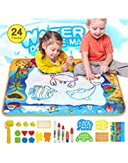 "Toy Doodle Mat for Kids, Magic Water Drawing Mat Large 40""x28"", Mess Free Painting Drawing Mat with 5 Magic Pens, Educational Toy Gift for 2 3 4 5 6 Year Old Boys Girls Toddlers Birthday Christmas"