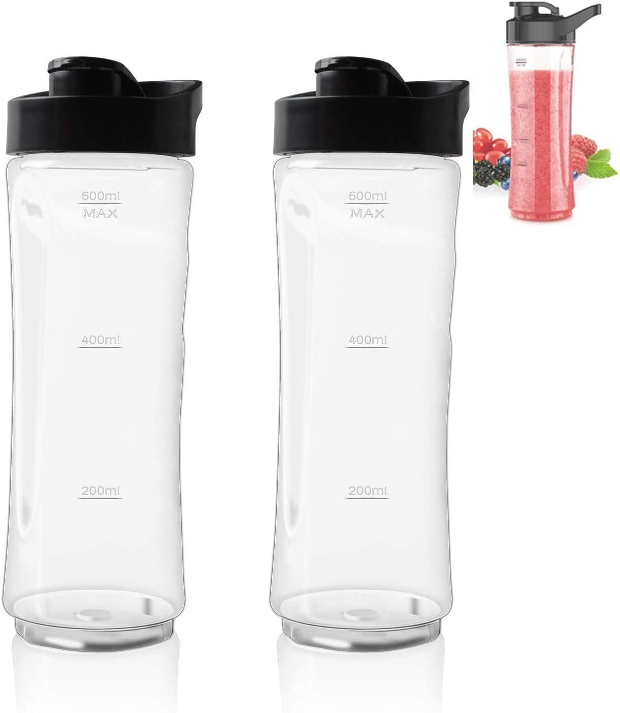 20 OZ Sport Bottle with Lid by Podoy Replace for Oster MyBlend Blender BLSTPB and BLSTP2 Blender