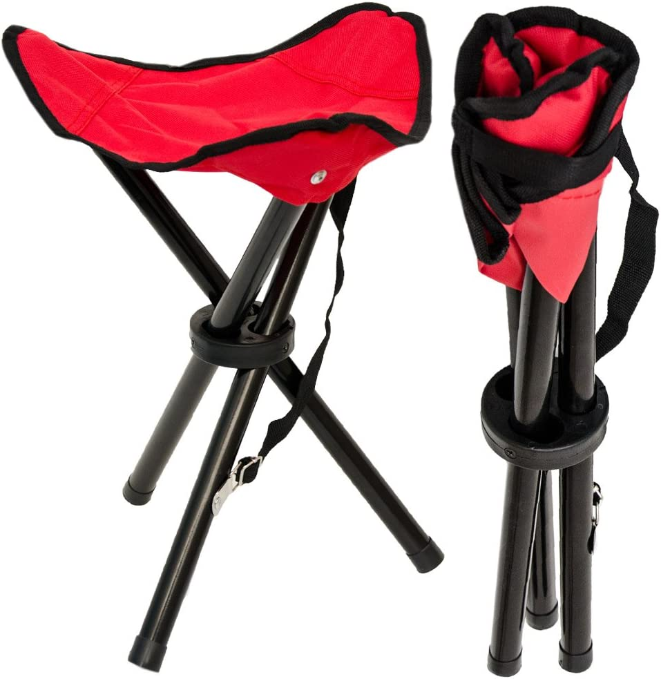 PUMYPOREITY Tabouret de camping pliable avec sac de transport chaise portable pour ext/érieur//randonn/ée//p/êche//randonn/ée//pique-nique l/éger cadre en alliage daluminium
