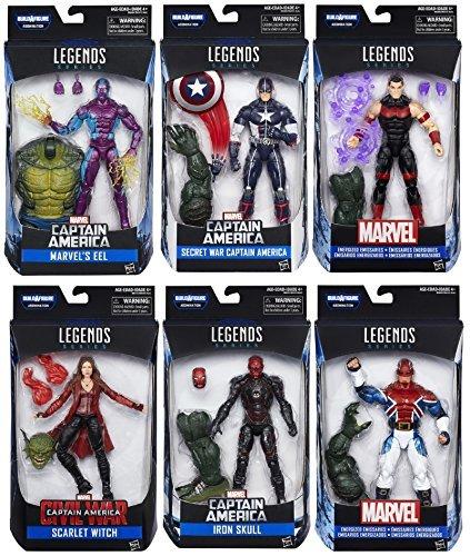 Captain America: Civil War Marvel Legends Wave 3 - Set of 6 with Build A Figure