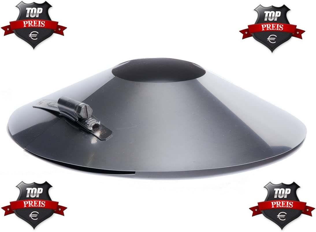 Rosette Edelstahl DN 80 80mm Abgasrohr Schornstein Kragen Wandblende Kamin
