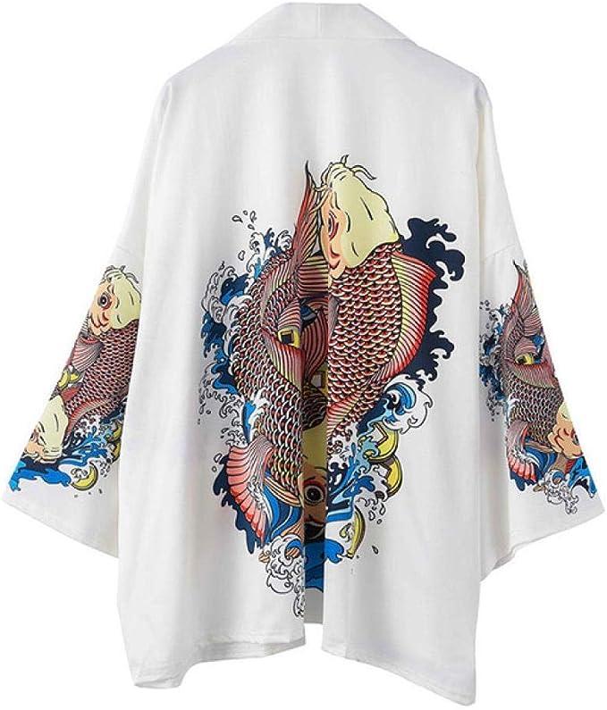 Kimono Giapponese Uomo Accappatoio Stampa Drago Indumenti da Notte Grande  Uomo Manica Lunga Estate Robe Moda Abiti Asiatici Harajuku , Kimono Style  7, XL: Amazon.it: Abbigliamento