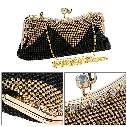 Wedding Womens Evening Bags Clutch Ladies Purse Party Grey Bags Dress Shoulder Wallet Chain rqvqE