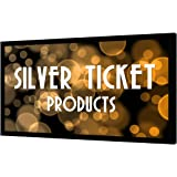 "STR-169135-S Silver Ticket 4K Ultra HD Ready Cinema Format (6 Piece Fixed Frame) Projector Screen (16:9, 135"", Silver Material)"