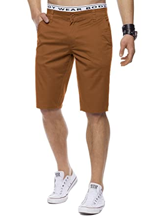 Herren Chino Shorts Sommer Bermuda Hose Slim Fit Basic H1442  Amazon.de   Bekleidung 83aabb5b0c