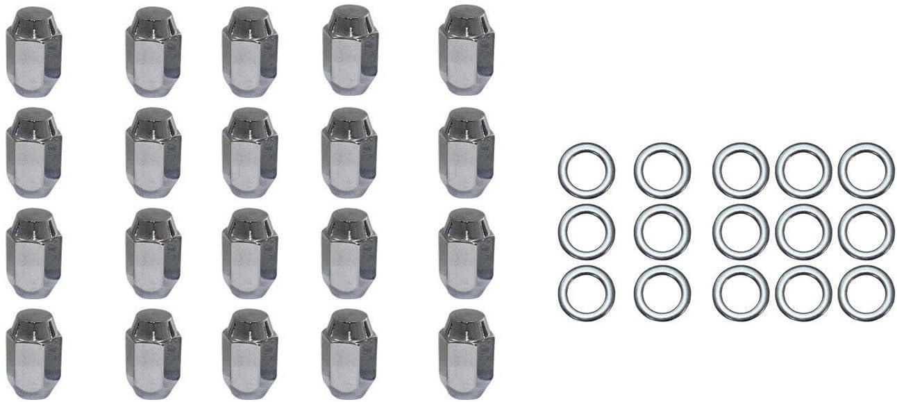 """20 Set of 7//16-20 Finish Chrome Hex Size 3//4/"""" Lug Nuts Fits Chevrolet Impala"""