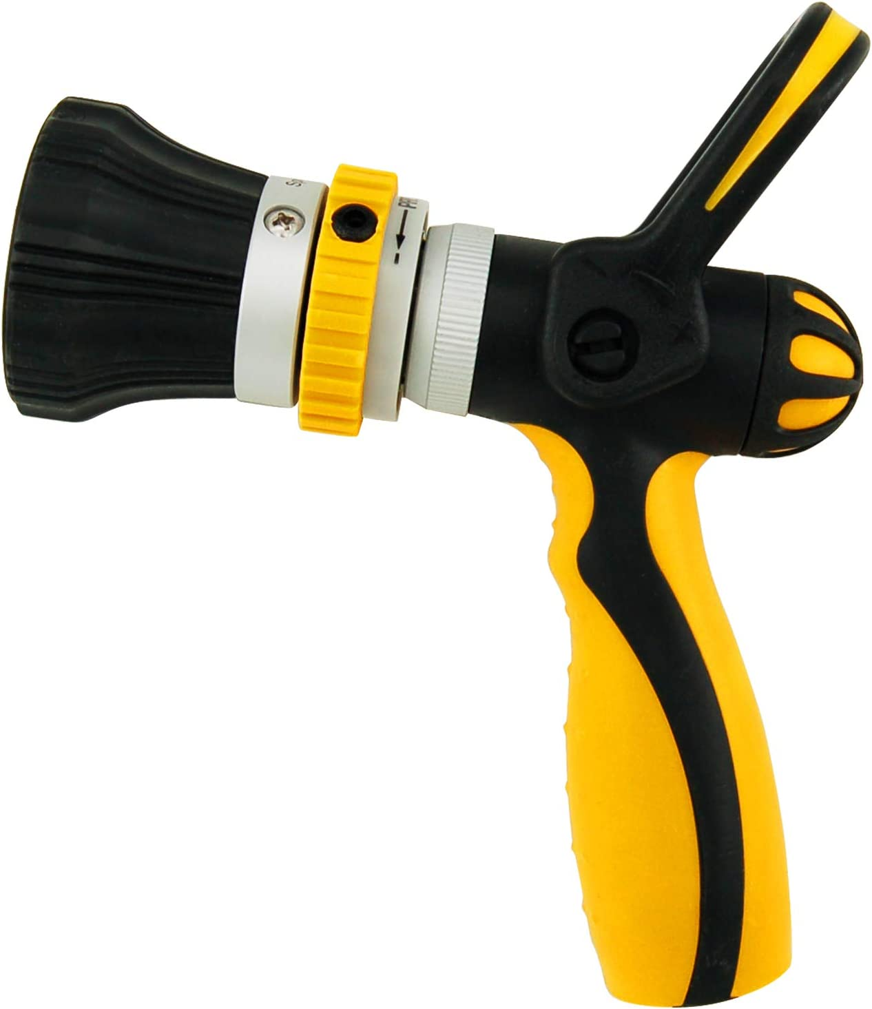 Centurion 996 High Pressure Fireman Nozzle Hose Nozzle, Heavy Duty Water Nozzle with Lever Control Handle