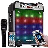 Caixa de SOM BLUETOOTH Amplificada Microfone para Karaokê USB MP3