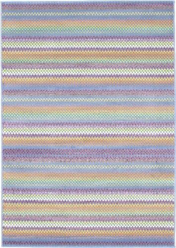 EcarpetGallery 55403 Chroma Pastel Modern Rug, 5'5