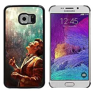 El doctor - Metal de aluminio y de plástico duro Caja del teléfono - Negro - Samsung Galaxy S6 EDGE (NOT S6)