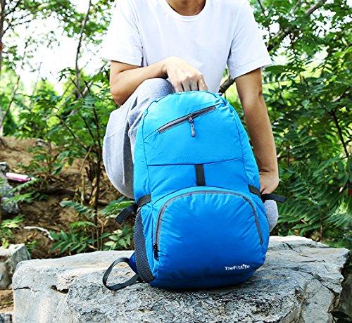 thefitlife 35L Travel Rucksack verstaubarer Tasche Handlich Leicht großes Wasserdicht Faltbarer tragbar und langlebig für Wandern Camping Trekking Radfahren Klettern Reisen Outdoor Sports Rucksack Tag