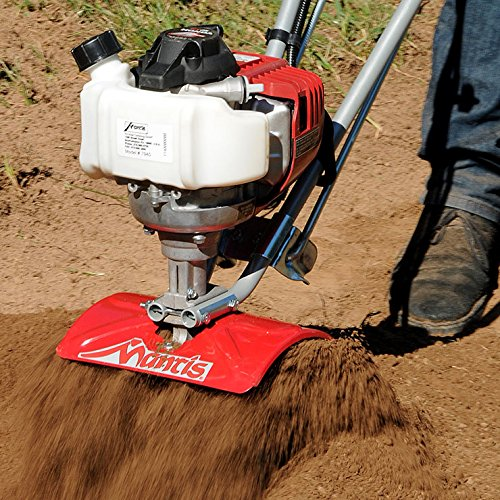 Schiller Grounds Care Mantis 7940 4-Cycle Tiller Cultivator Powered by Honda Lightweight, Powerful and Compact – No Fuel Mix, Sure-Grip Handles Built to Be Durable and Dependable