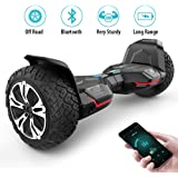 Gyroor Warrior 8.5 inch All Terrain OFF ROAD Hoverboard with Bluetooth Speakers and LED Lights, UL2272 Certified Self Balancing scooter 2018