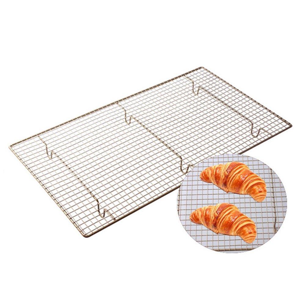 BESTOMZ Nonstick Stainless Steel Cookie Cooling Rack Baking Rack 46 * 26 (Champagne) NWIDEKKFNK976