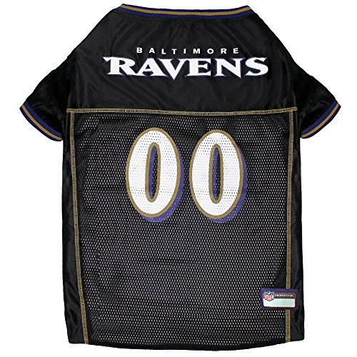 NFL BALTIMORE RAVENS DOG Jersey, X-Small (Baltimore Ravens Logo Jersey)