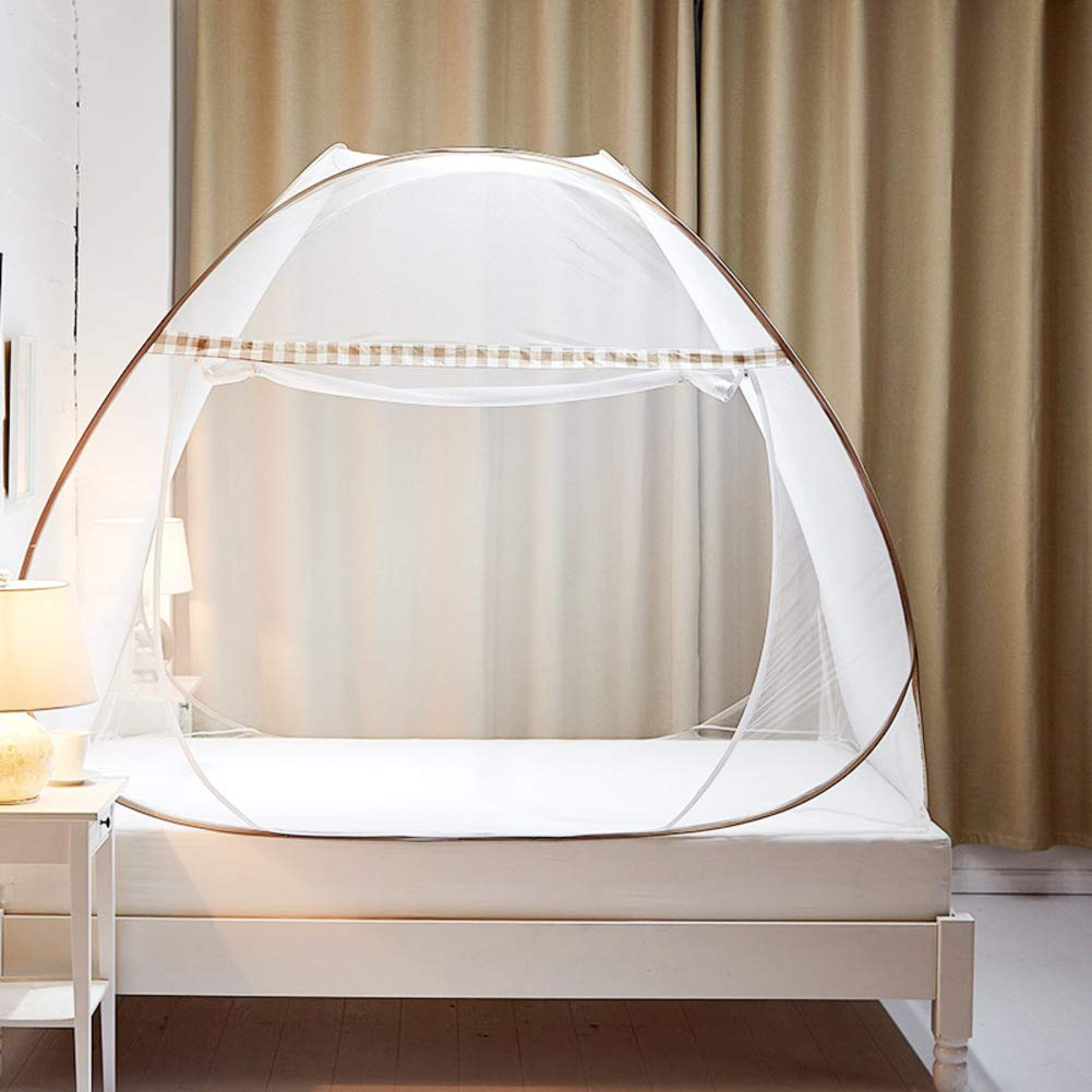 KE & LE Mosquito Tent, Outdoor Mongolian Yurt Dome Folding Mosquito Net Prevent Insect Pop Up Tent Mesh Canopy Curtains with Bottom Curtains for Beds Bedroom-a W:100cmxh:100cmxd:190cm by KE & LE (Image #1)