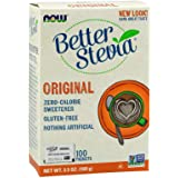 Now Foods Better Stevia, Original, 100 Packets,100g