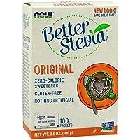 Now Foods Betterstevia Sweetner, 100 Packets