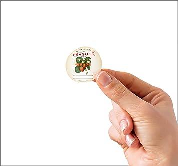 pesca 38 x 21 mm 480 adesivi Etichette autoadesive con frutta di alta qualit/à LabelCreate .