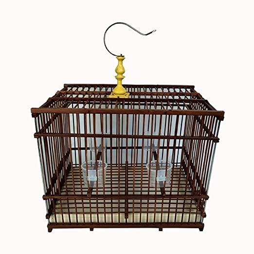 LF stores Casas para pájaros 1 PCS Jaula de pájaros de bambú de ...