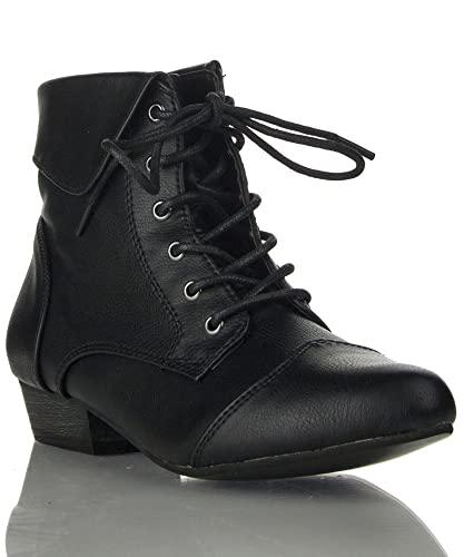 Breckelles - Ladies Indy-11 Bootie Boot NEW BLACK PU (6)