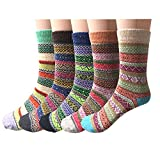 Pack of 5 Womens Wool Winter Socks