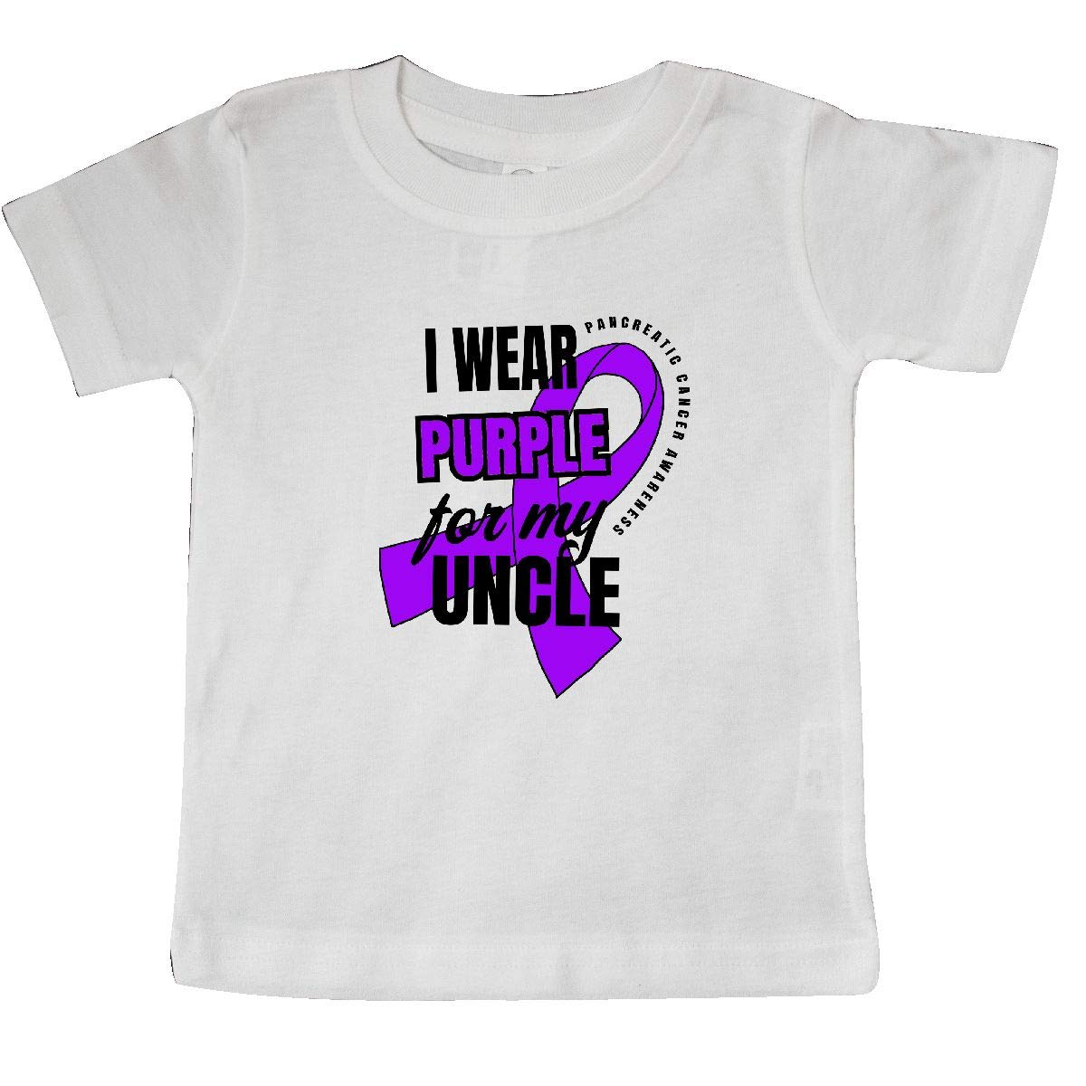 inktastic I Wear Purple for My Uncle Pancreatic Cancer Awareness Baby T-Shirt