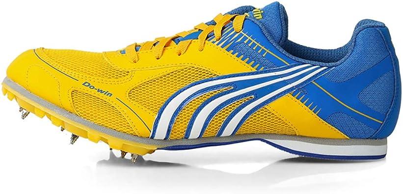 Zapatillas De Atletismo Junior, Zapatillas De Clavos Para Correr Zapatillas De Atletismo Profesionales Amarillas Zapatillas De Deporte De Entrenamiento De Competición De Cross Country Unisex,EU41: Amazon.es: Zapatos y complementos