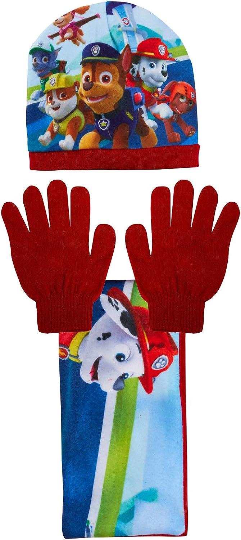 Scarf Paw Patrol Woolly Hat Gloves 3 Piece Winter Set Girls Boys Kids