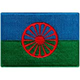 Romani People Flag Embroidered Patch European Gypsy Roma Iron-On Emblem