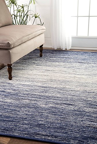 nuLOOM Flat Weave Cotton Faded Casual Area Rugs, 7' 6