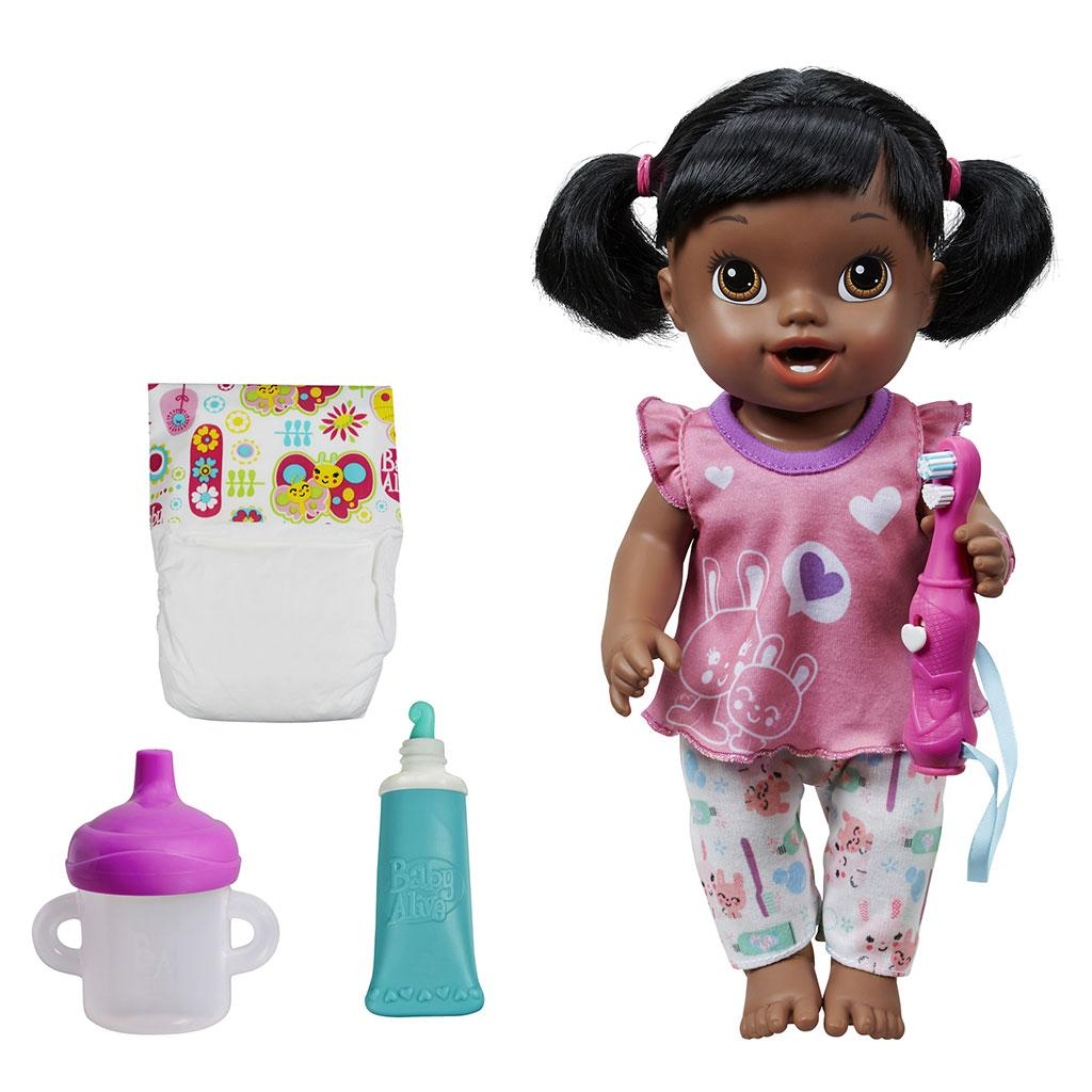 Toy Baby Doll : Amazon baby alive brushy doll african