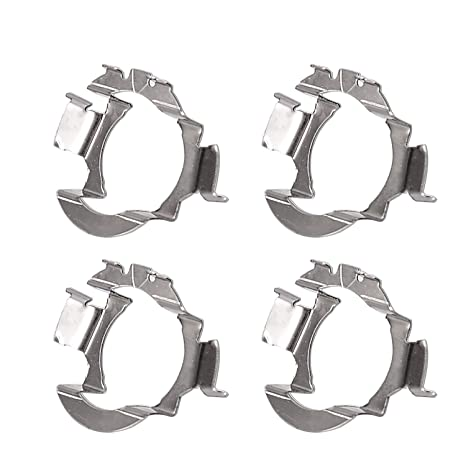 H7 LED Adapter Holders H7 Retainers Clik Socket Base for VW Jetta Mercedes-Benz Audi BMW X5 E85 Buick Hyundai Nissan with 4 Pack