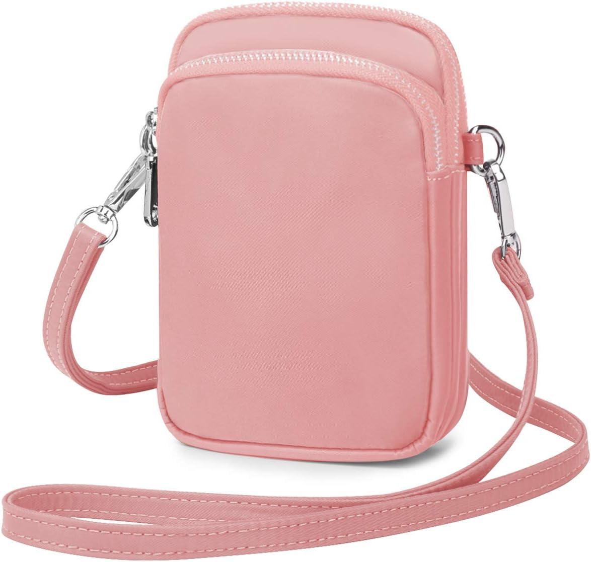 Wind Took Handy Schultertasche Kleine Damen Umh/ängetasche Handytasche Brieftasche Kartentasche Crossbody Bag Mini Sack A - Korallenrosa