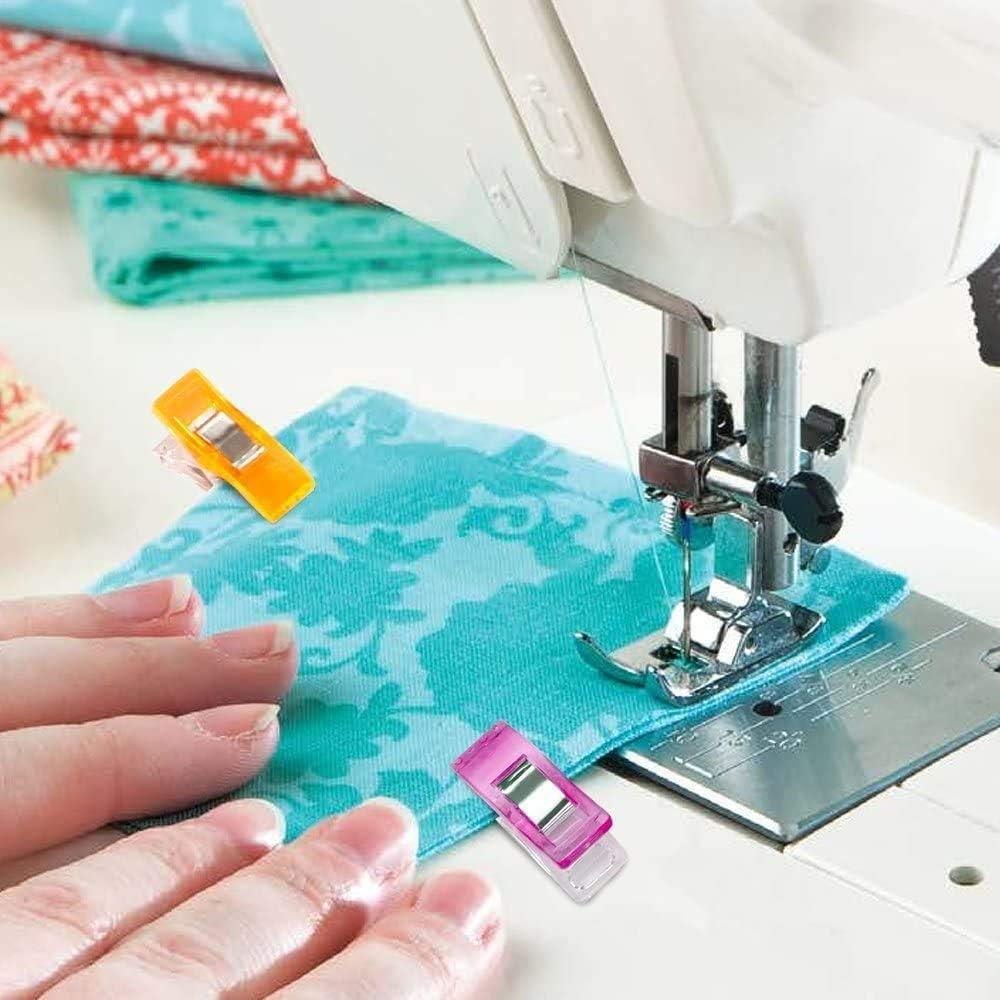 Bricolaje Patchwork Tejer 100Pcs Pinzas Costura Clips Pinzas de Coser para Crochet Diealles Shine 100 Piezas Clips de Costura Pl/ástico